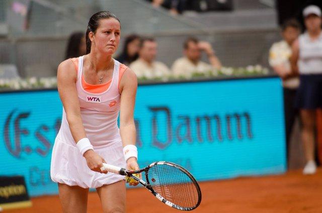 Archivo - Lara Arruabarrena durante el Mutua Madrid Open
