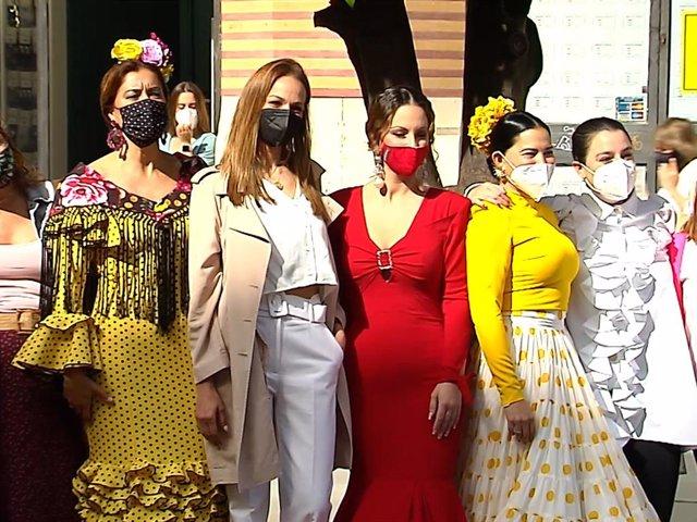 """Eva González, embajadora de la exposición de moda flamenca """"Por los rincones del Alcázar"""""""