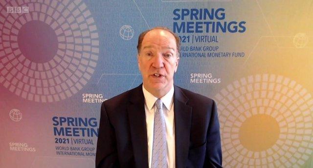 David Malpass, presidente del Banco Mundial, entrevistado por la cadena BBC