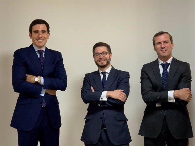 Álvaro Menéndez, Jaime Aguilar y Javier Alonso, socios de Abante.