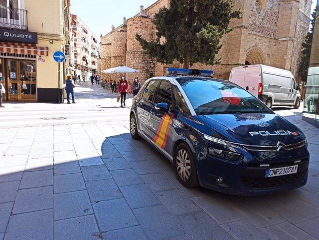 Vehículo de la Policía Nacional en Ciudad Real