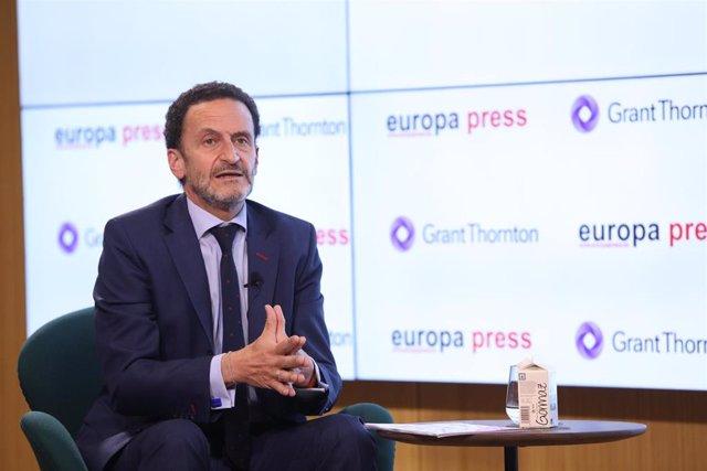 El portavoz de Ciudadanos y candidato a la Presidencia de la Comunidad de Madrid, Edmundo Bal, interviene en un desayuno informativo organizado por Europa Press, en el Auditorio Meeting Place.