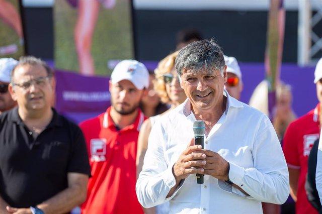 Archivo - El entrenador de tenis Toni Nadal durante el Mallorca Open de 2018 jugado en Santa Ponsa