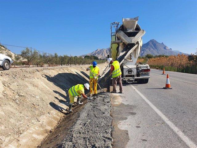 Obras de conservación en carretera