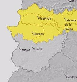 Alertas en Extremadura para el 9 de abril