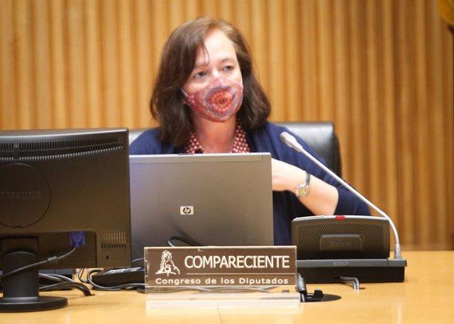 Archivo - La presidenta de la AIReF, Cristina Herrero, comparece ante el Congreso