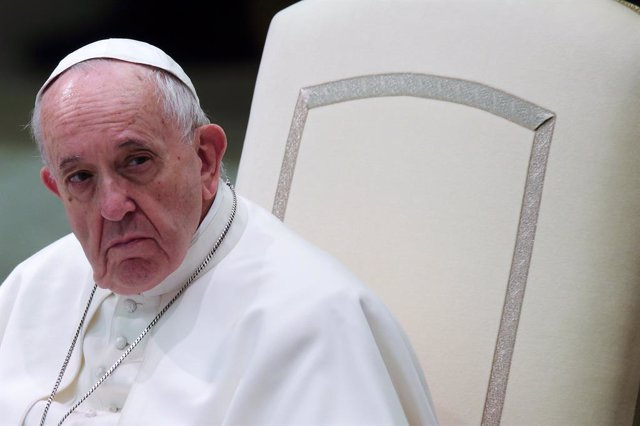 Archivo - 29 January 2020, Vatican, Vatican City: Pope Francis leads his Wednesday General audience at the Vatican. Photo: Evandro Inetti/ZUMA Wire/dpa