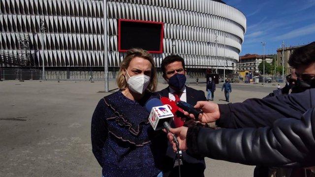 La presidenta del PP de Bizkaia y portavoz de los populares en Bilbao, Raquel González