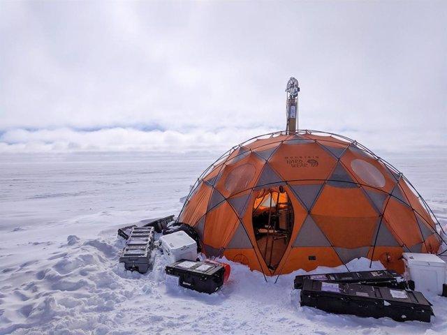 Ubicación del experimento WATSON durante las pruebas en Groenlandia