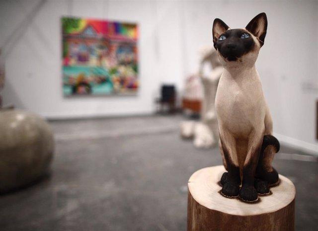 Una de las piezas que componen la obra 'Animal Kingdom', de Samuel Salcedo, en la edición especial de la feria 'Estampa'