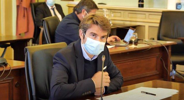 El diputado de Ciudadanos Marc Pérez-Ribas, durante la Comisión de Economía.