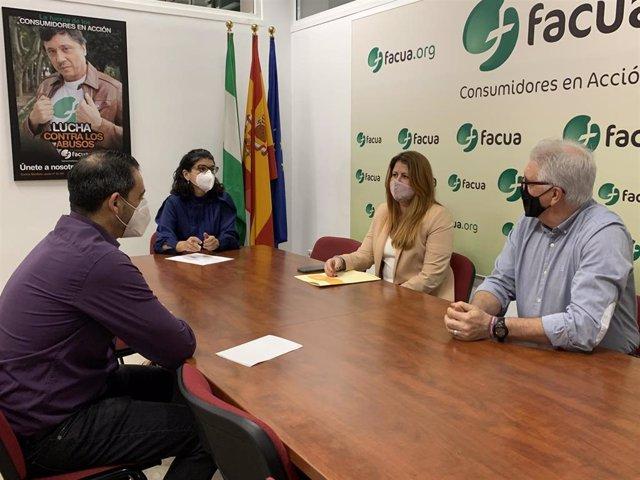 Reunión de Podemos Sevilla y Facua