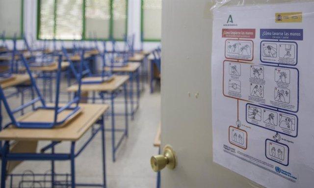 Archivo - Imagen de archivo de un aula.