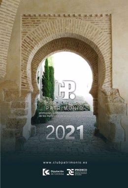Cartel del Club Patrimonio de la Diputación de Córdoba.