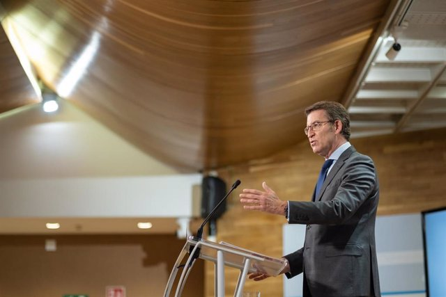 El presidente de la Xunta, Alberto Núñez Feijóo, en la rueda de prensa posterior al Consello de la Xunta