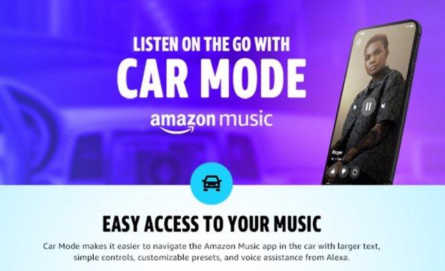 Modo coche de Amazon Music.