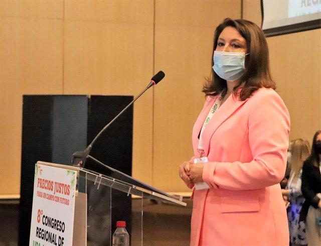 La consejera de Agricultura, Ganadería, Pesca y Desarrollo Sostenible, Carmen Crespo, ha participado este jueves en la apertura del 8º Congreso Regional de UPA Andalucía.