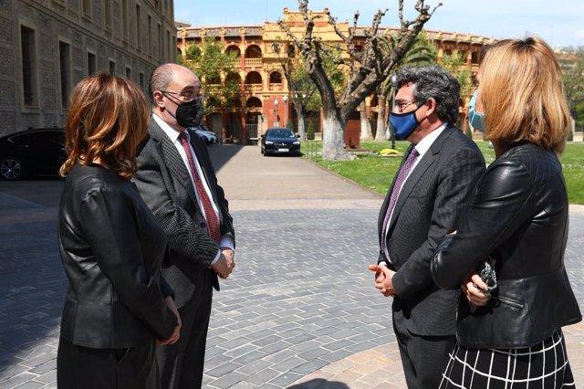 El ministro de Inclusión, Seguridad Social y Migraciones José Luis Escrivá visita Zaragoza.
