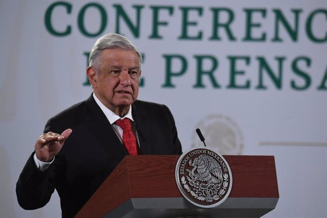 08 April 2021, Mexico, Mexico City: Mexican President Andres Manuel Lopez Obrador speaks during a press conference at the National Palace. Photo: -/El Universal via ZUMA Wire/dpa