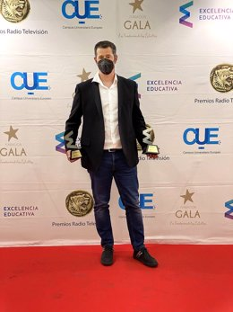 Jordi Giné, CEO de ILERNA Online, en la recogida de los Premios