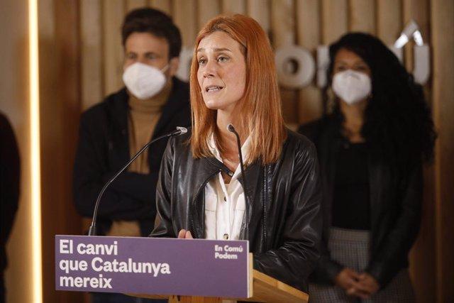 Archivo - Arxiu - La candidata dels comuns a la presidència de la Generalitat, Jéssica Albiach.