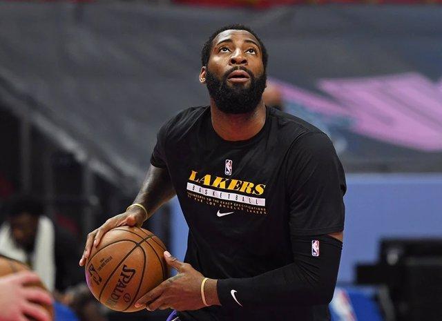 Arxiu - Andre Drummond amb Los Angeles Lakers.
