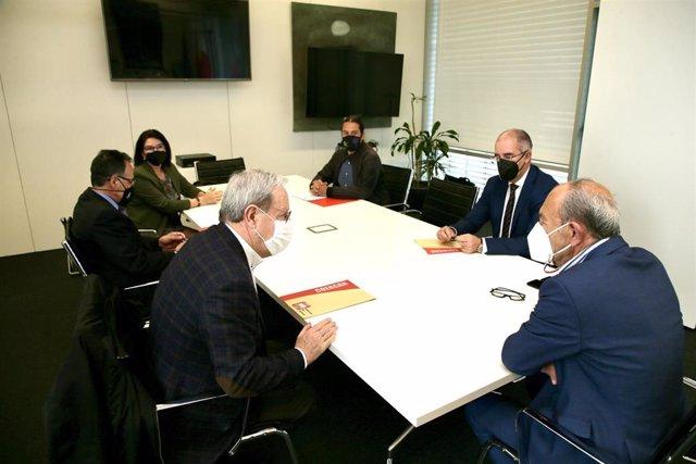 Reunión de responsables de Consejería de Industria y de COERCAN