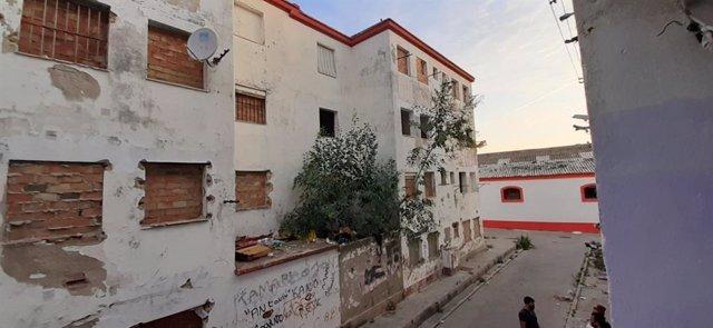 Edificios de la barriada José Antonio en El Puerto