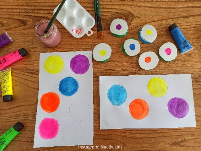 Puzle de colores: manualidades educativas