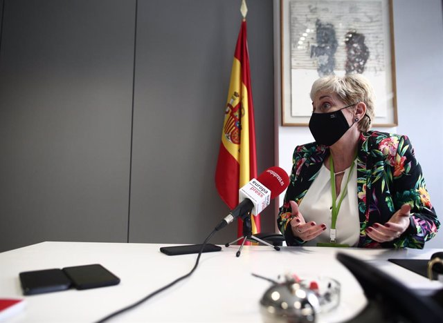 La jueza, María Tardón, durante una entrevista para Europa Press en la Audiencia Nacional, en Madrid (España), a 26 de marzo de 2021. En diciembre de 2020, Tardón, titular del Juzgado Central de Instrucción número 3, fue nombrada  asesora confidencial tit