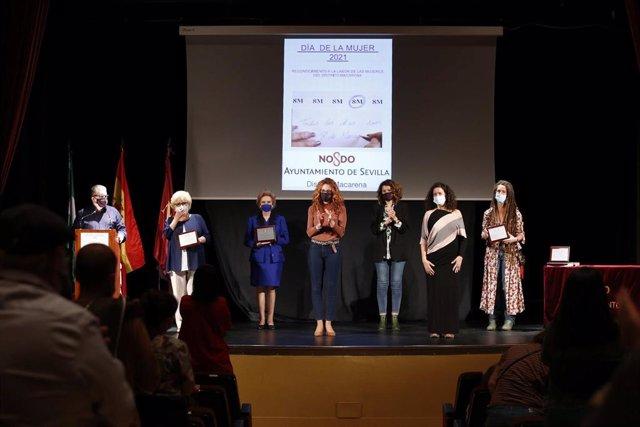 Premiados por el Distrito Macarena con motivo del Día de la Mujer