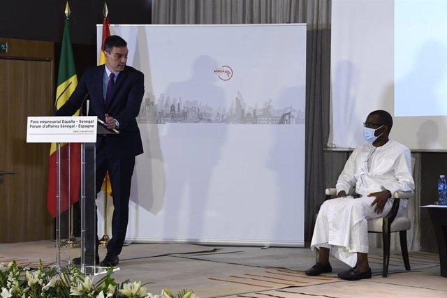 El president del Govern espanyol, Pedro Sánchez, al Senegal.