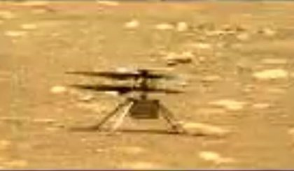 El helicóptero Ingenuity de Marte pone en marcha sus palas