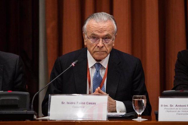 Archivo - El presidente de Criteria Caixa y de la Fundación Bancaria La Caixa, Isidro Fainé