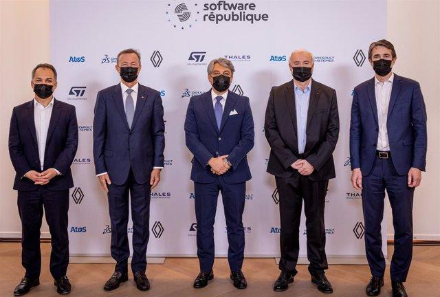 Líderes de los socios de Software République.
