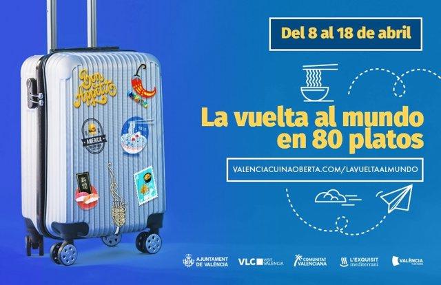 Gastronomia.- Turisme.- 'La volta al món en 80 plats' permetrà gaudir de la gastronomia internacional sense eixir de València