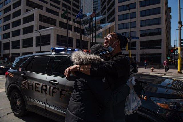 Protestes durant el judici per la mort de George Floyd