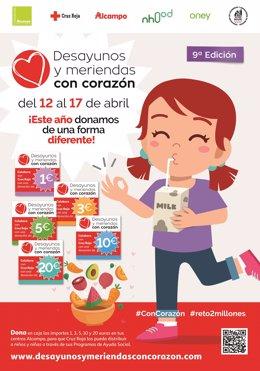 Cartel de la campaña 'Desayunos y Meriendas Con Corazón' 2021