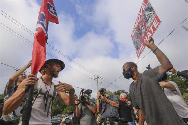 Archivo - Imagen de archivo de manifestaciones en EEUU