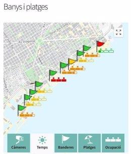 Informació sobre les platges de Barcelona