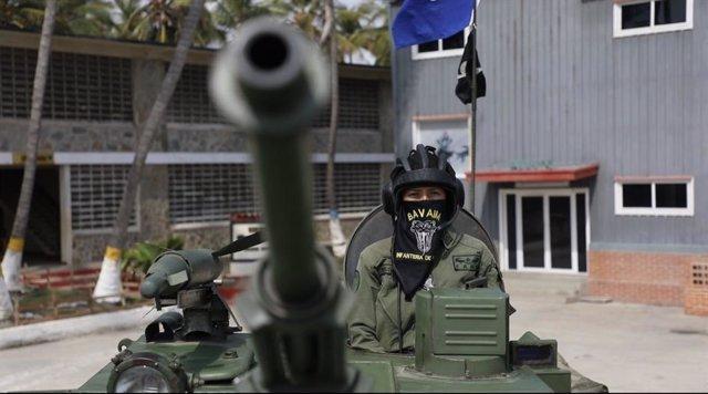 Un carro de combate de la Fuerza Armada Nacional Bolivariana (FANB)