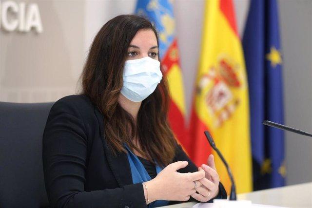 Archivo - La vicealcaldesa de València, Sandra Gómez
