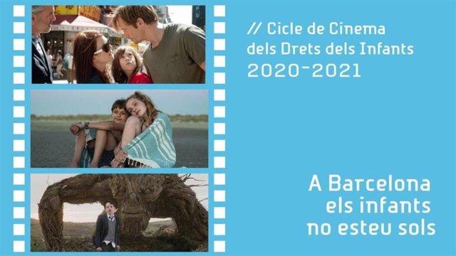 Cartell del Cicle de Cinema dels Drets de la Infància.