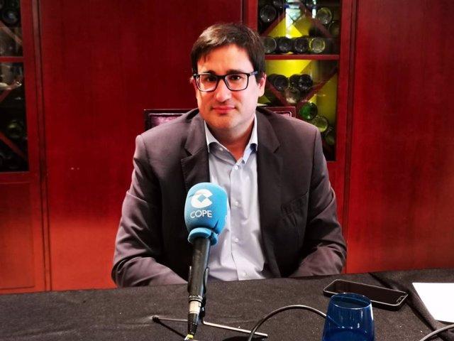 El president de l'Associació de Joves Empresaris de Catalunya (AIJEC), Rubén Sans.