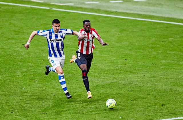 Inaki Williams of Athletic Club during the Spanish league, La Liga Santander, football match played between Athletic Club and Deportivo Alaves at San Mames stadium on April 10, 2021 in Bilbao, Spain.