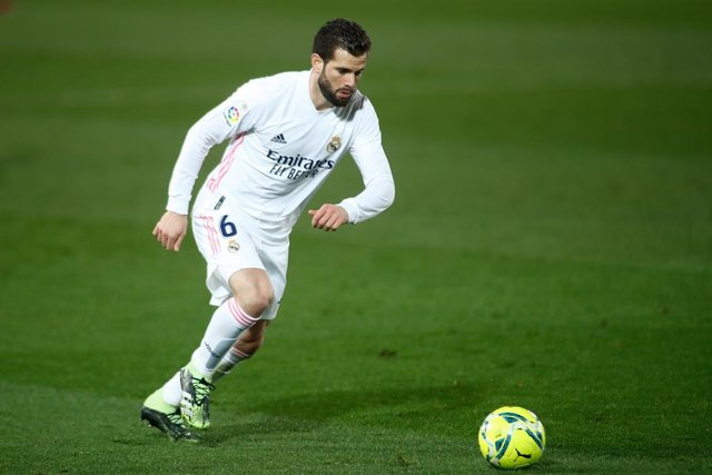 Archivo - Nacho Fernandez of Real Madrid in action during the spanish league, La Liga Santander, football match played between Real Madrid and Getafe CF at Ciudad Deportiva Real Madrid on february 09, 2021, in Valdebebas, Madrid, Spain.