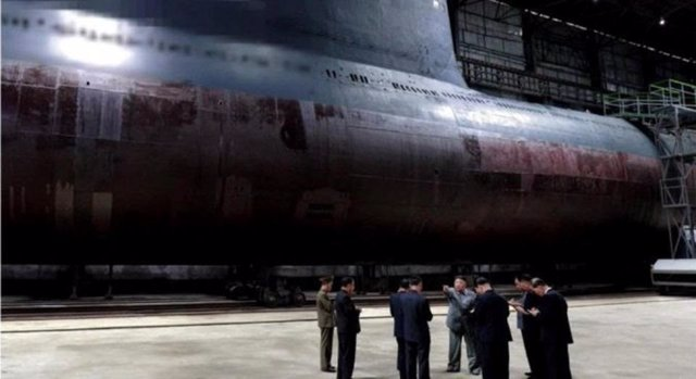 Nuevo submarino balístico de Corea del Norte