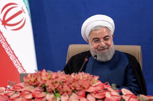 Archivo - El presidente de Irán, Hasán Rohani