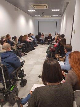 Archivo - La concejala de Asuntos Sociales, Helena Fernández, se reúne con una docena de asociaciones, en foto de archivo