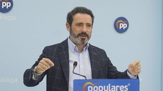 El portavoz adjunto del Grupo Parlamentario Popular Andaluz, José Ramón Carmona.
